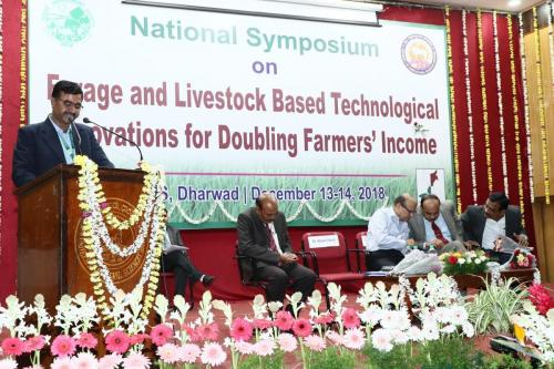 National Symposium: Forage and Livestock Based Technological Innovations for Doubling Farmers' Income.